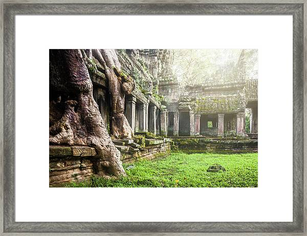 Framed Print featuring the photograph Jungle Temple 1 by Nicole Young