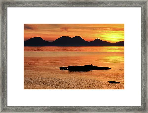 Jura Sunset Framed Print