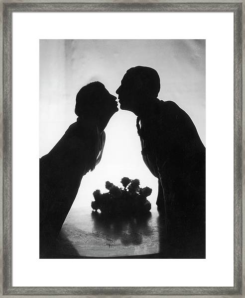 Just A Kiss Framed Print by Sasha