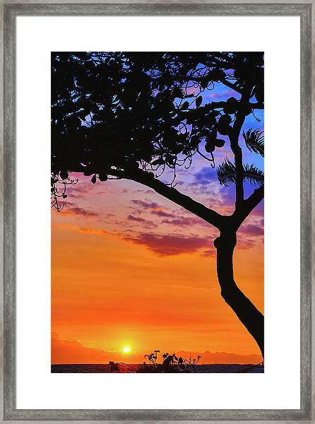 Just Another Kona Sunset Framed Print