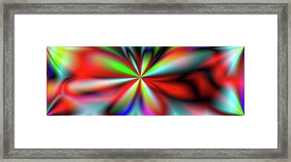 Kaleidoscape. Panorama. Digitally Framed Print by Raj Kamal