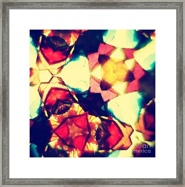 Kaleidoscope Pattern Framed Print