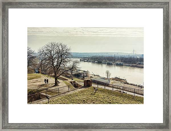 Framed Print featuring the photograph Kalemegdan Park Fortress In Belgrade by Milan Ljubisavljevic