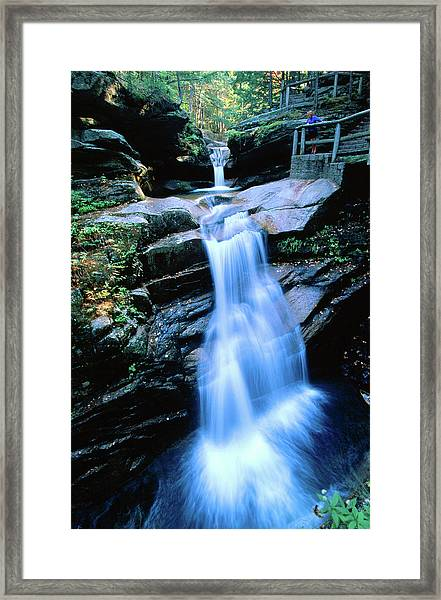 Kancamagus Highway Sabbaday Falls, New Framed Print by John Elk Iii