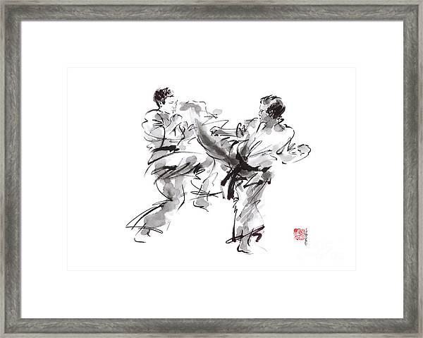 Karate Kyokushin Bushido Matrial Arts Modern Artwork Japanese Warrior Painting Framed Print