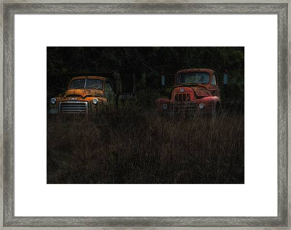 Karly's Trucks Framed Print