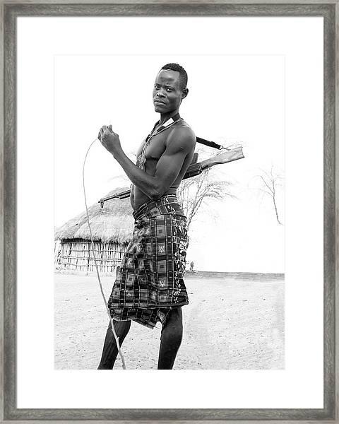 Karo Man  Framed Print