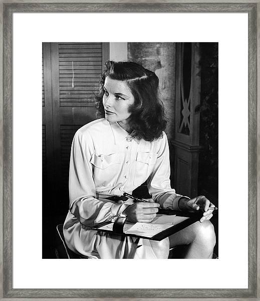 Katharine Hepburn In Early Portrait Framed Print