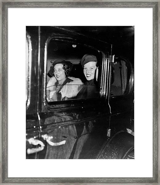 Katharine Hepburn Right And Mrs Framed Print