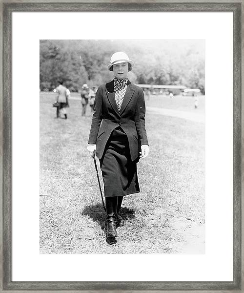 Katharine St. George In Riding Cothes Framed Print