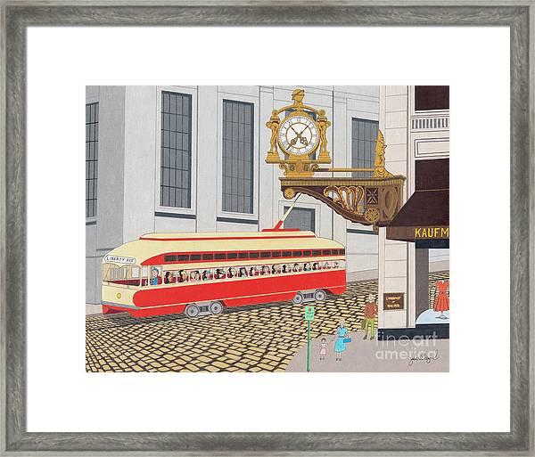 Kaufmann Clock Framed Print