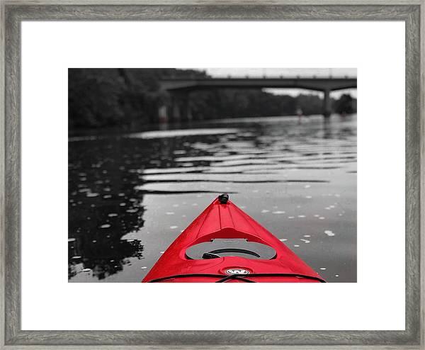 Kayaking The Occoquan Framed Print