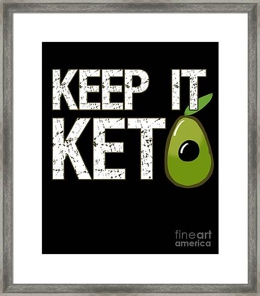 Keep It Keto Framed Print