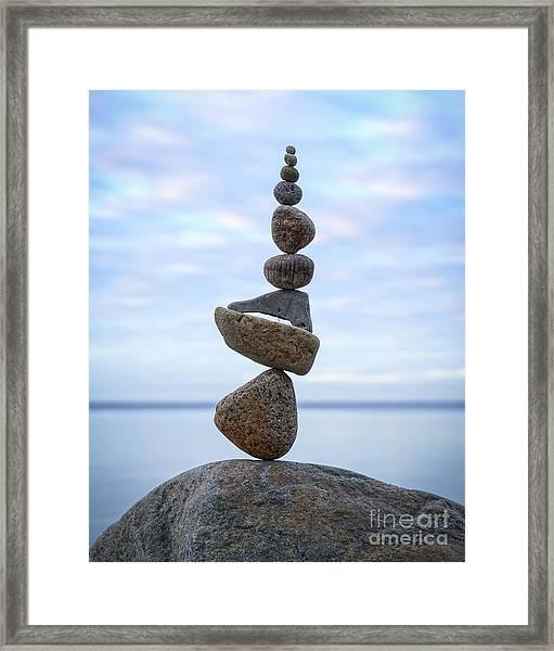 Keep The Balance Framed Print