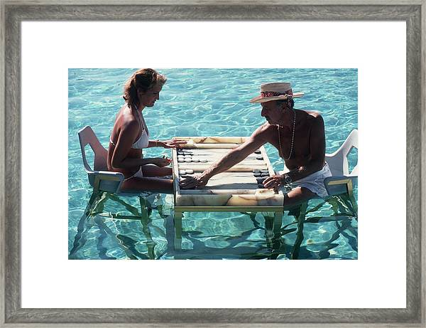 Keep Your Cool Framed Print by Slim Aarons
