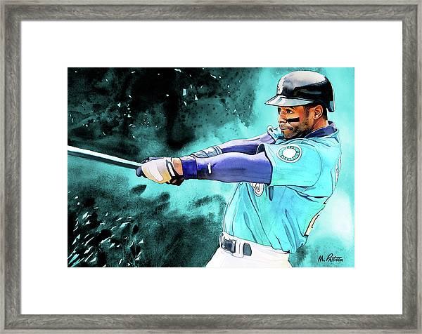 fe8aad65d9 Ken Griffey Jr - Seattle Mariners By Michael Pattison Framed Print