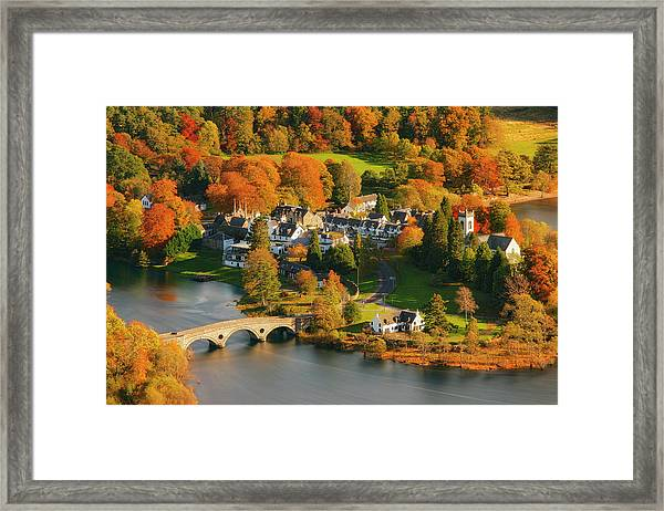 Kenmore In Autumn, Perthshire, Scotland Framed Print