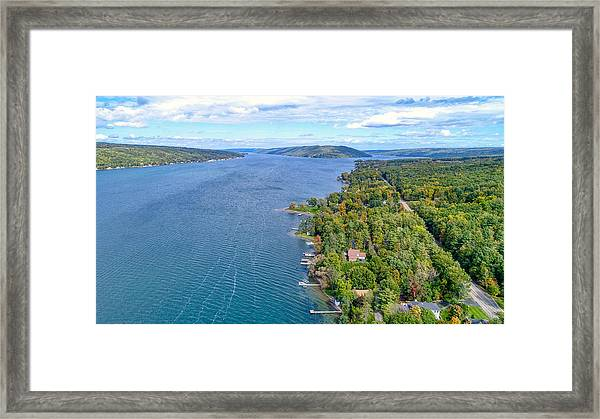 Keuka Center Point Framed Print