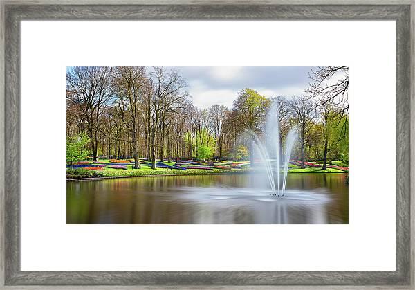 Keukenhof Tulip Garden Holland Framed Print