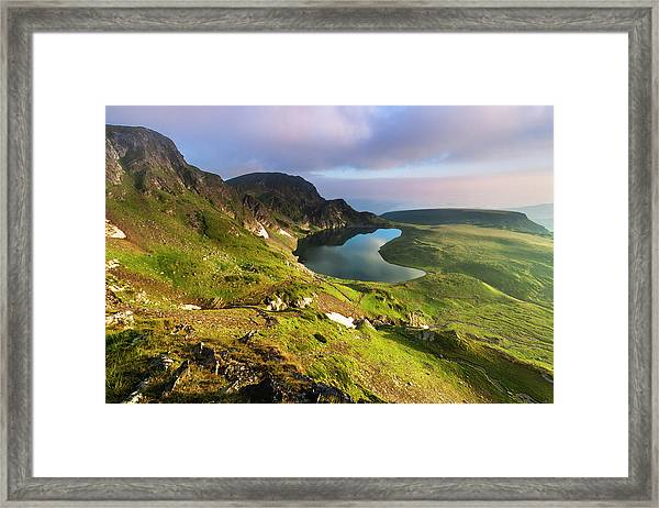 Kidney Lake Framed Print