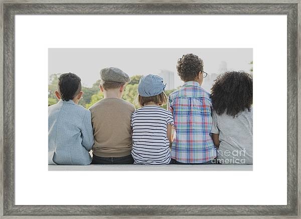 Kids Fun Children Playful Happiness Framed Print
