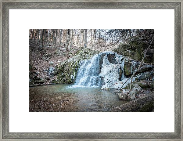 Kilgore Falls In Winter Framed Print