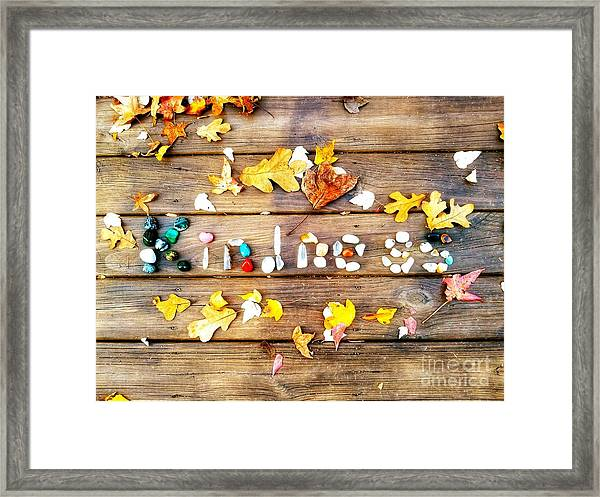 Kindness Framed Print