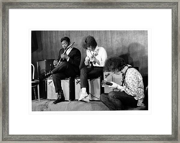 King, Clapton & Bishop Jam Framed Print by Michael Ochs Archives