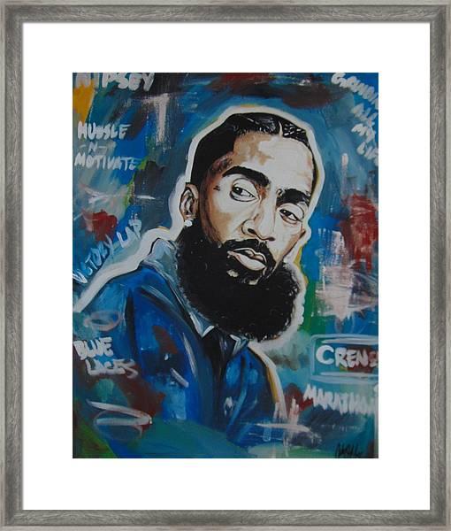 King Nipsey Framed Print