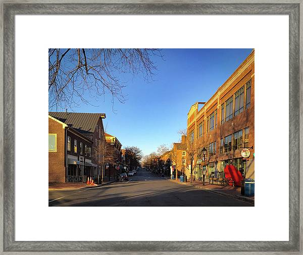 King Street Sunrise Framed Print