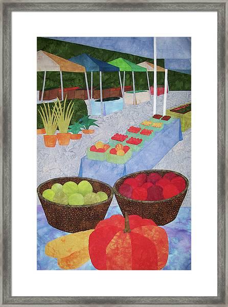 Kings Yard Farmers Market Framed Print