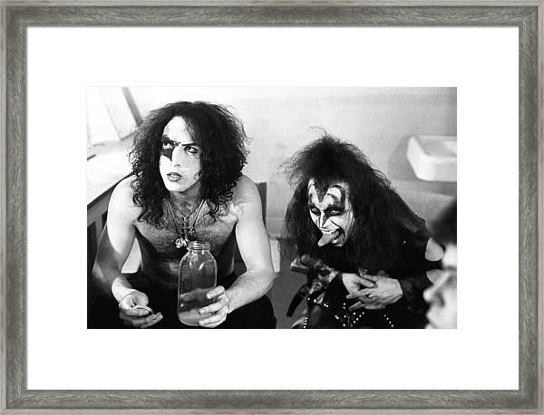 Kiss Backstage Portrait Session Framed Print