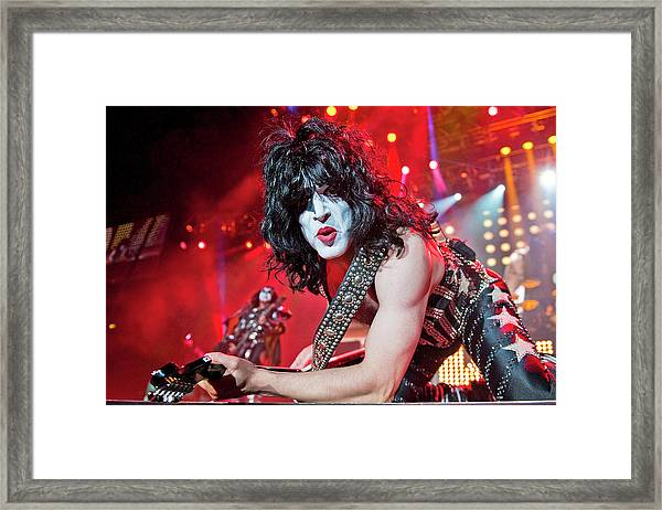 Kiss Perform At Wembley Arena In London Framed Print