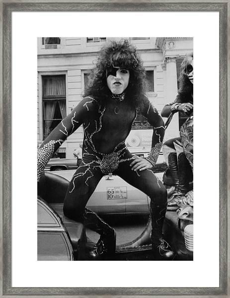Kiss Rock Group Paul Stanley Framed Print