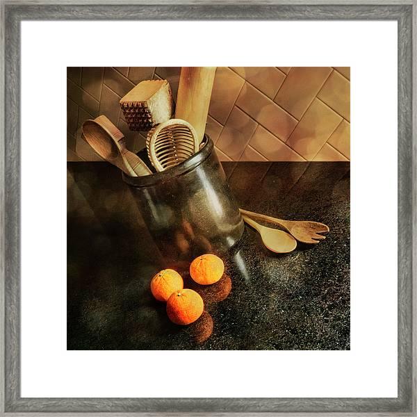 Kitchen Utensils - Mandarin Oranges Framed Print