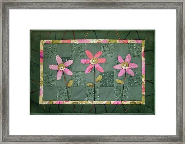 Kiwi Flowers Framed Print