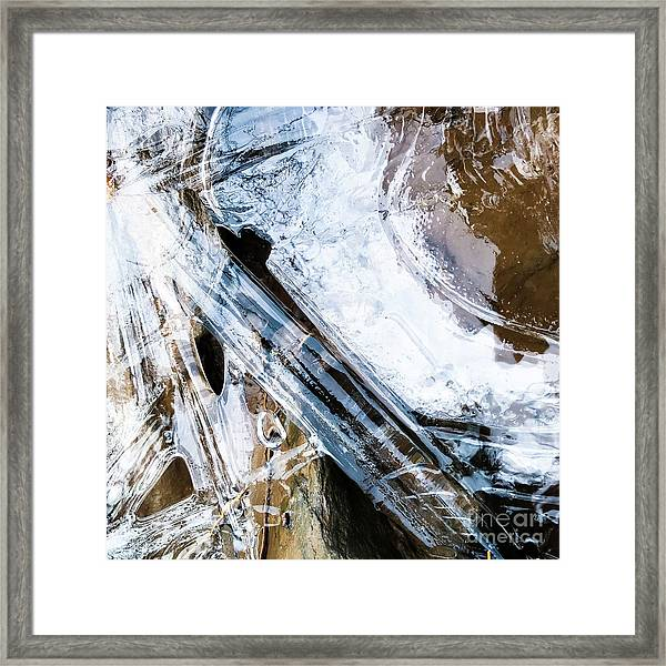 Framed Print featuring the photograph Heart Of Ice by Atousa Raissyan