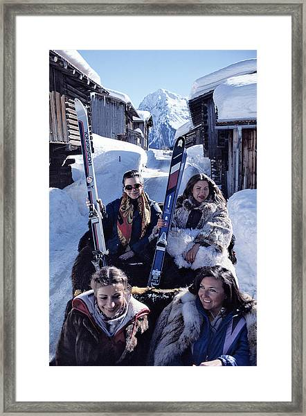 Klosters Skiing Framed Print