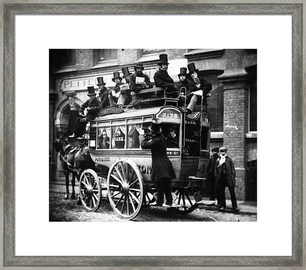 Knifeboard Bus Framed Print