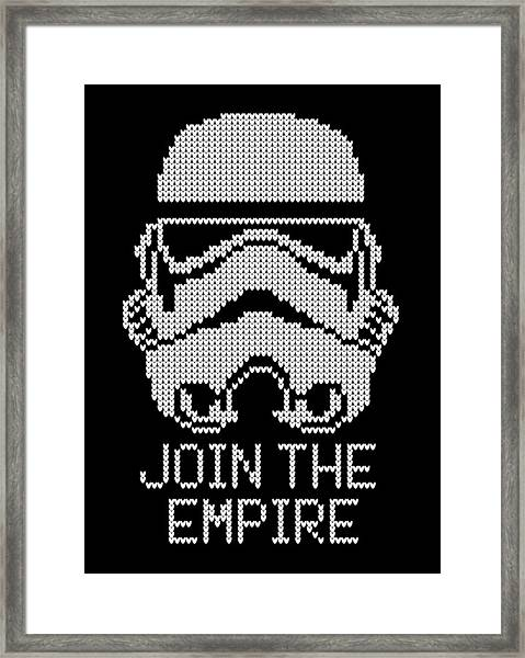 Knitted Storm Trooper - Join The Empire Framed Print