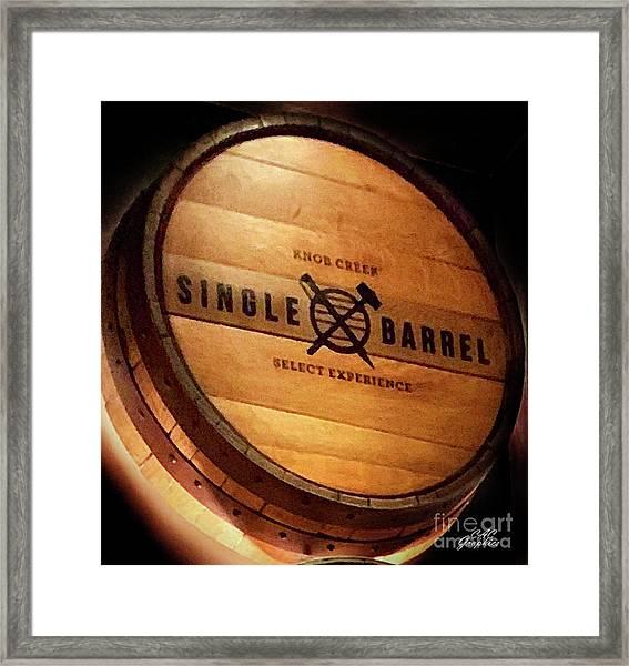 Knob Creek Barrel Framed Print