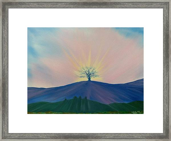 Framed Print featuring the painting Komorebi by Kevin Daly