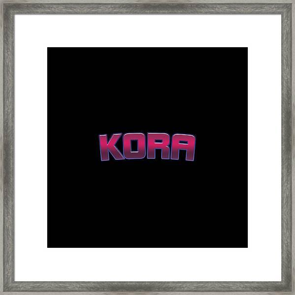 Kora #kora Framed Print