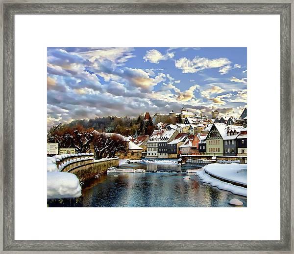 Kronach Winter Scene Framed Print