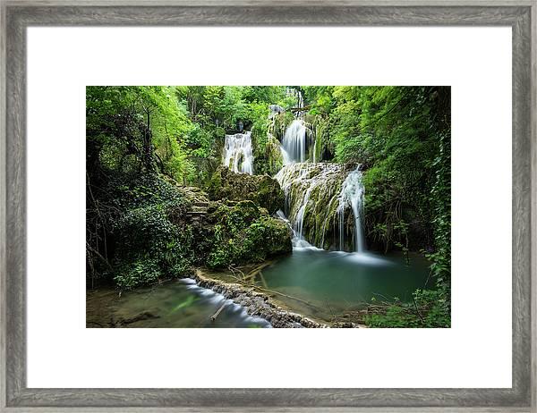 Framed Print featuring the photograph Krushunski Waterfalls by Milan Ljubisavljevic