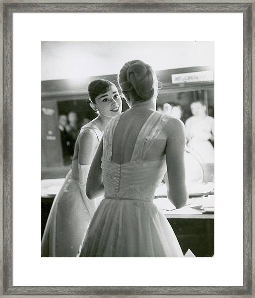 L-r Award Presenters Audrey Hepburn And Framed Print