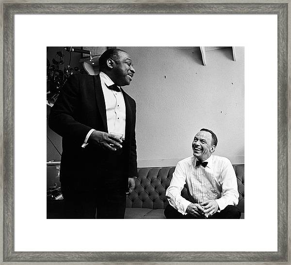 L-r Count Basie And Frank Sinatra Framed Print by John Dominis
