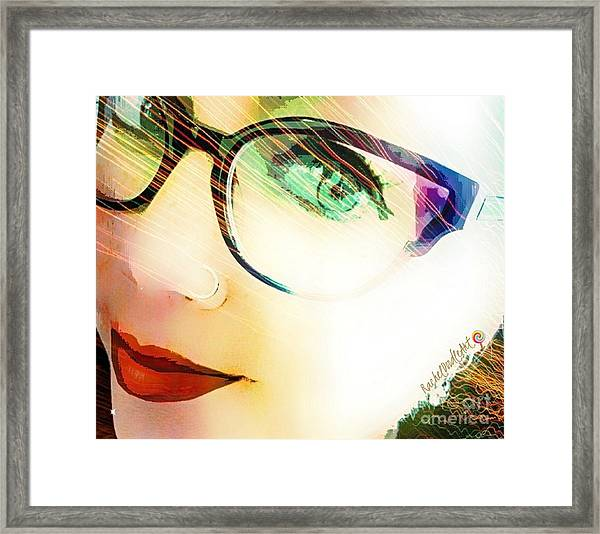 Framed Print featuring the mixed media La Va Rache  by Rachel Maynard
