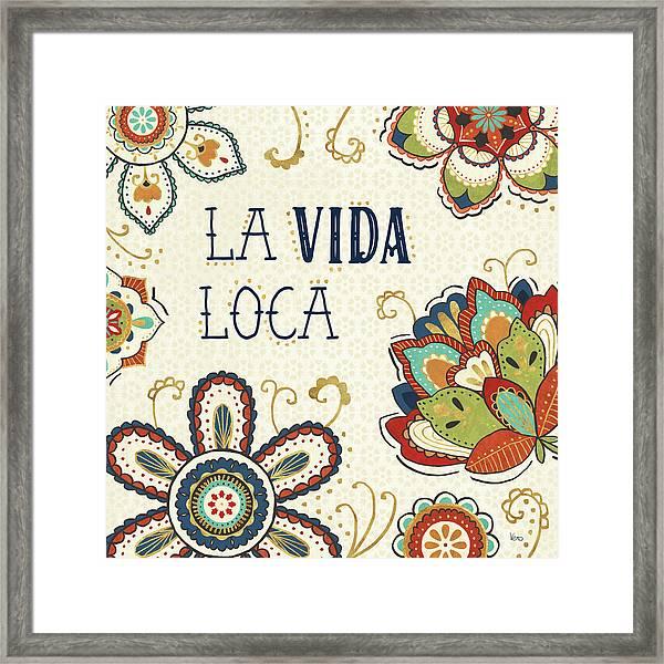 La Vida Loca II Framed Print by Veronique Charron