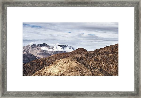 Framed Print featuring the photograph Ladakh Peaks by Whitney Goodey